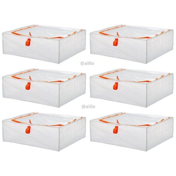 """IKEA 6 PARKLA Storage cases, 22 x 19 x 7 """""""